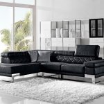 1263 Arden Sectional Sofa In Black Fabric By Vig