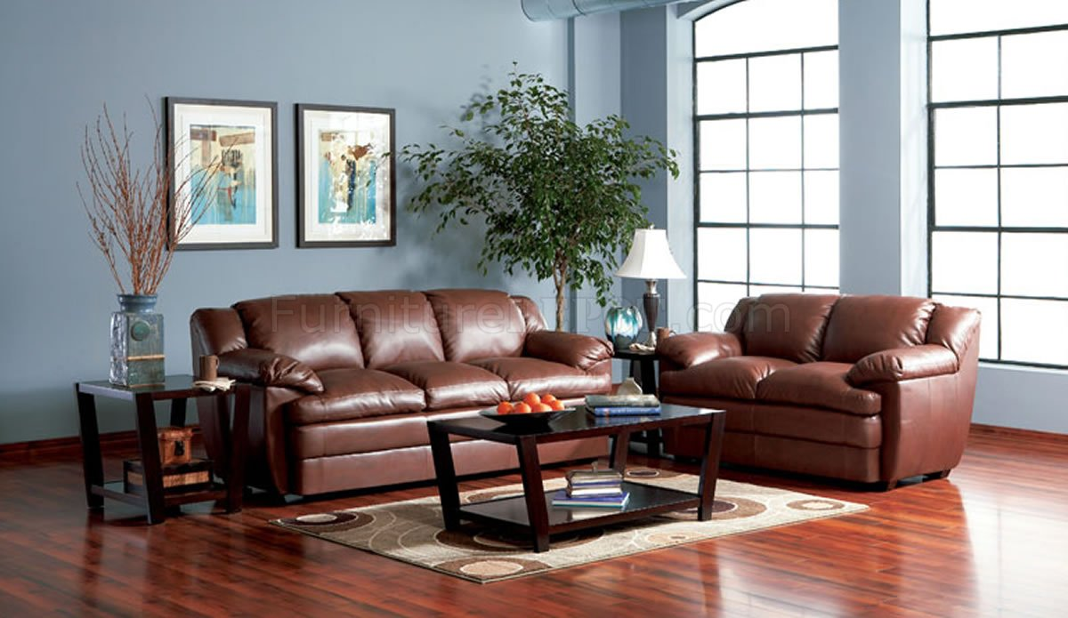 rich brown full bonded leather sofa w