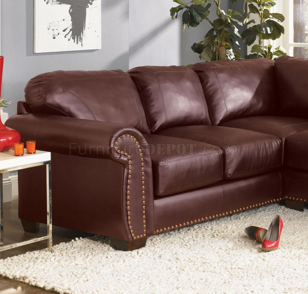 Burgundy Living Room Set