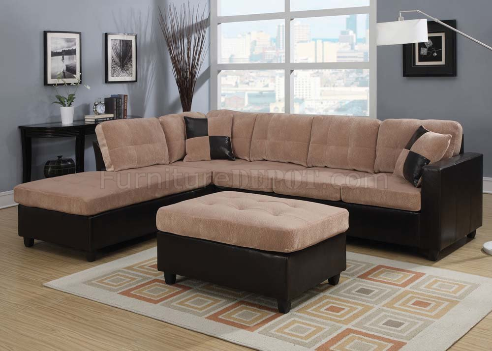 51330 Milano Reversible Sectional Sofa By Acme