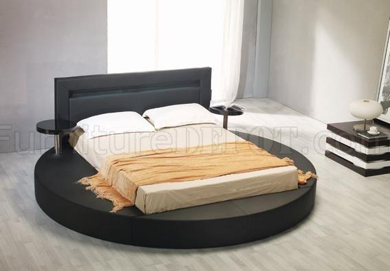 leatherette round platform bed palazzo