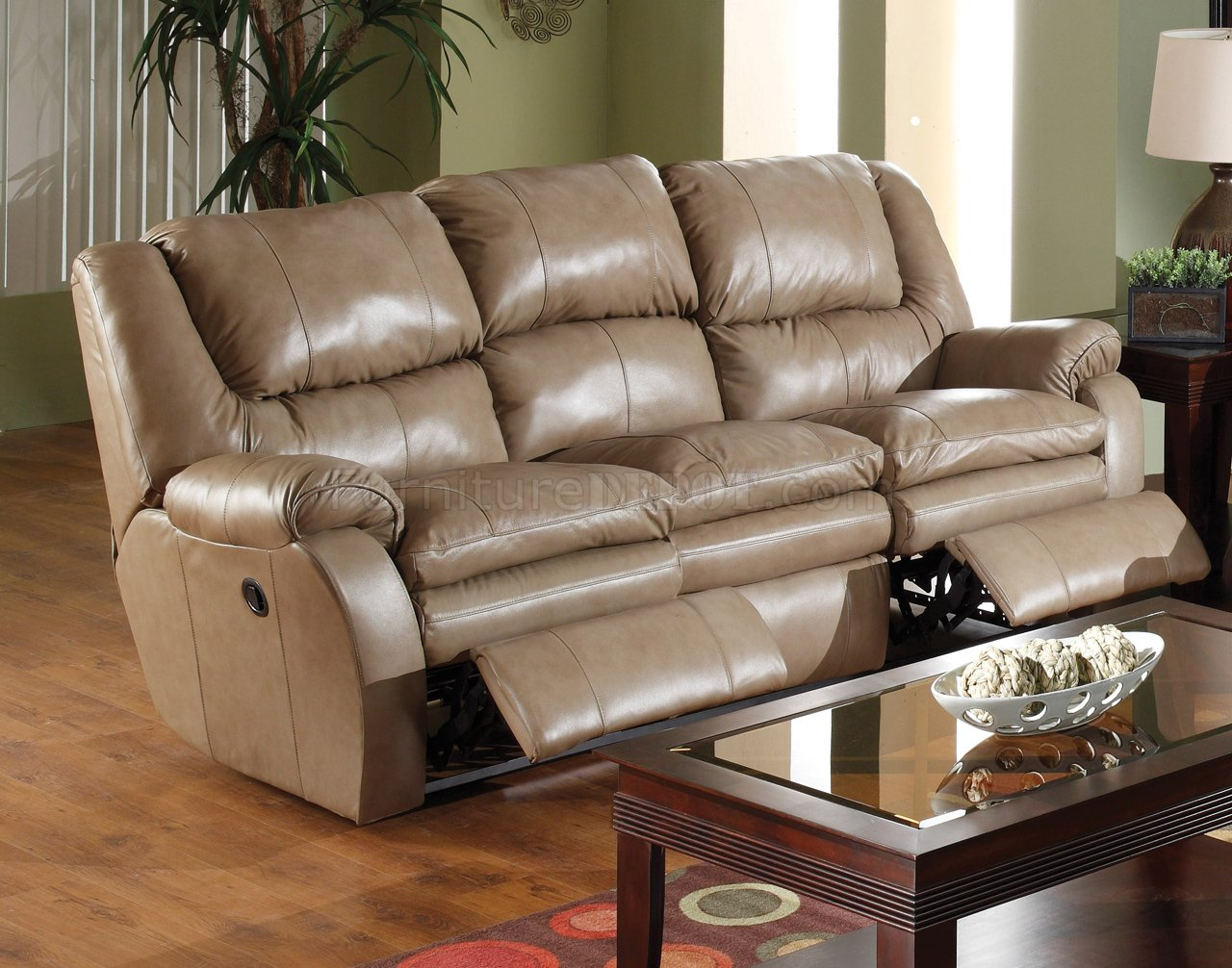 Catnapper Mushroom Top Grain Leather Allegro Reclining