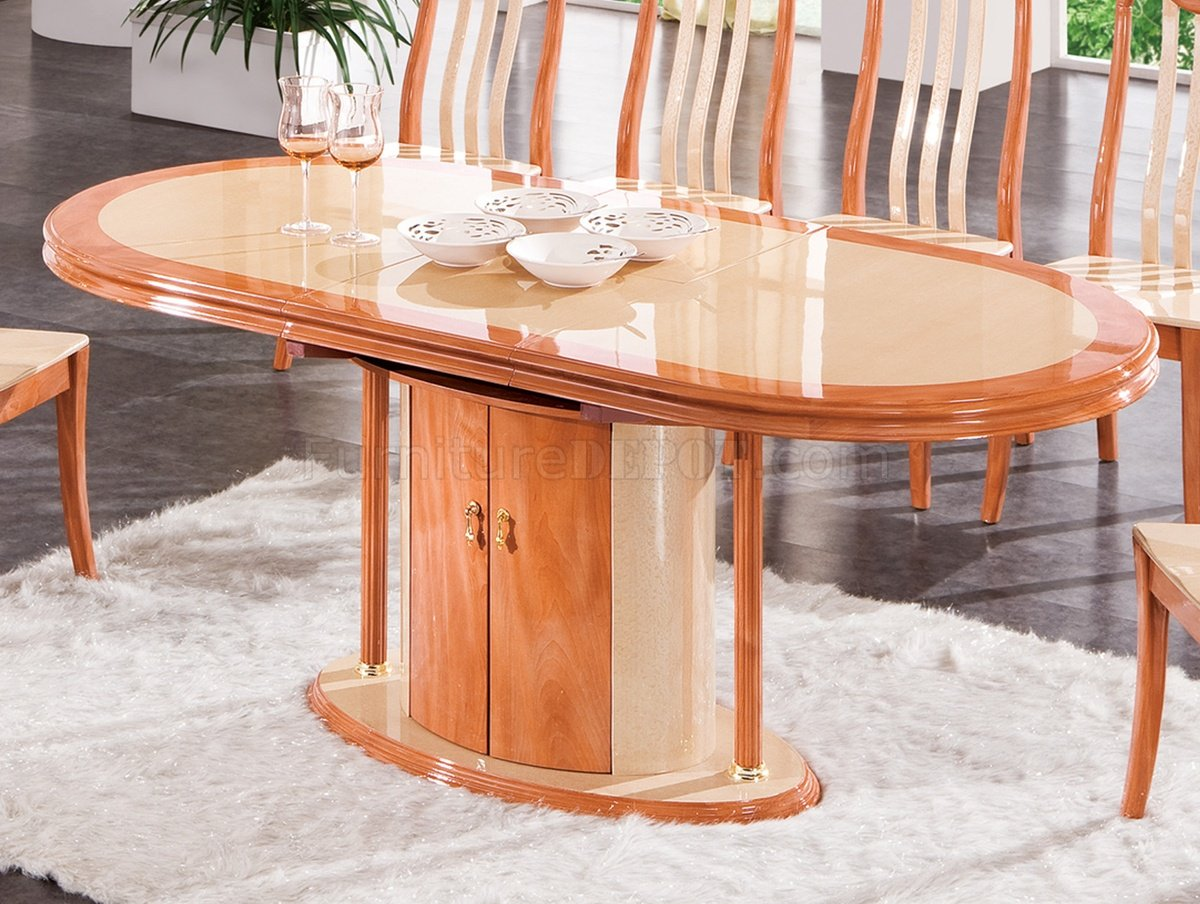 DT34 Dining Table In Cherry Light Two Tone By Pantek WOptions