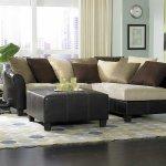 9917 Carrington Sectional Sofa In Beige Microfiber By Homelegance