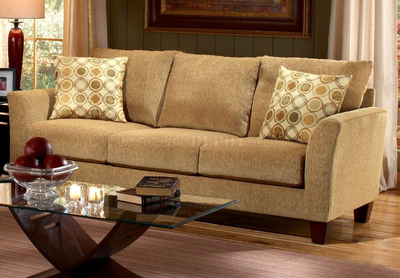 Barton Camel Fabric Casual Living Room Sofa Amp Loveseat Set