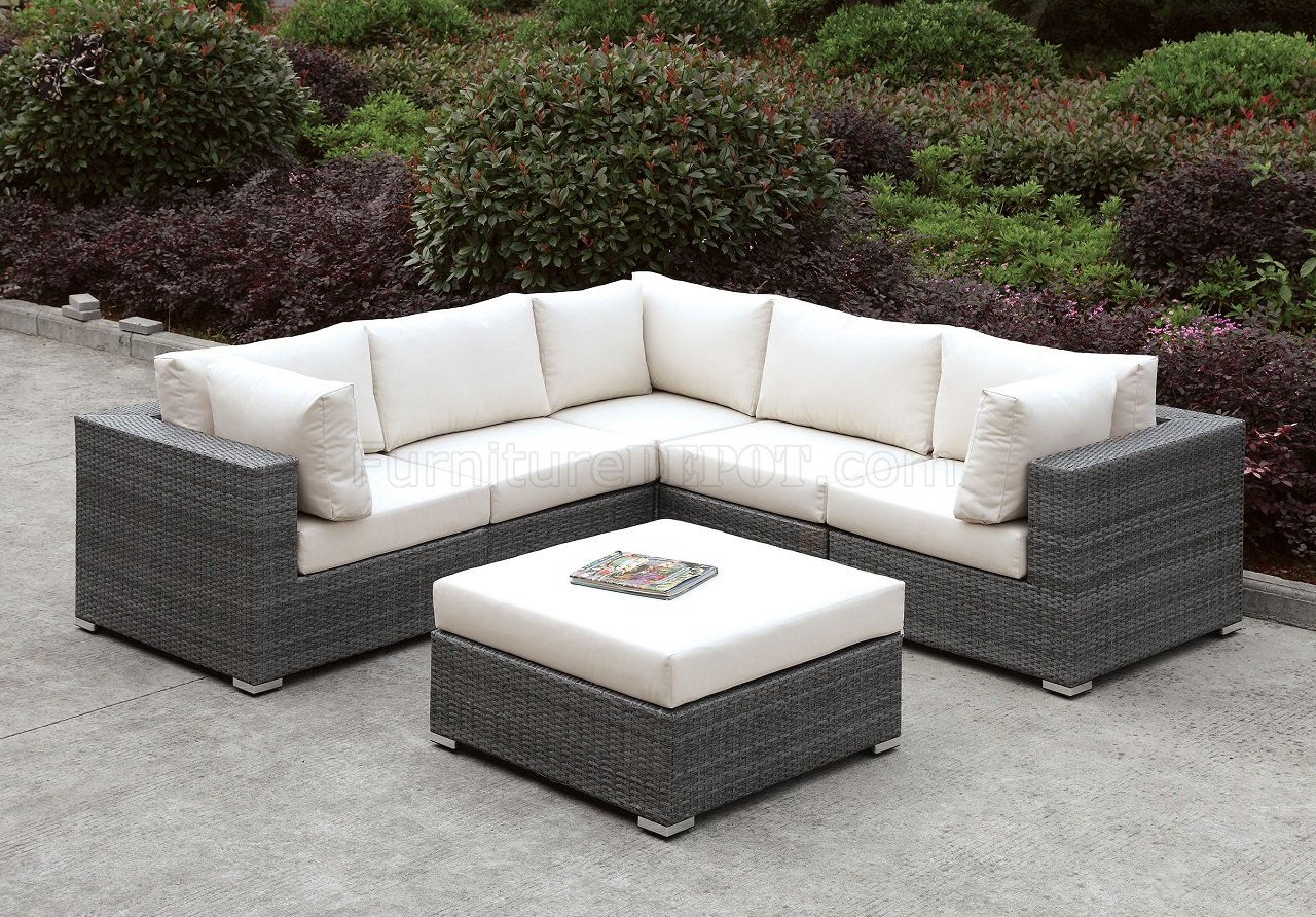 Somani CM-OS2128-12 Outdoor Patio L-Shaped Sectional Sofa Set on Outdoor Loveseat Sets  id=82285