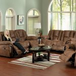 Tanner Faux Leather Contour Reclining Sofa Loveseat Set