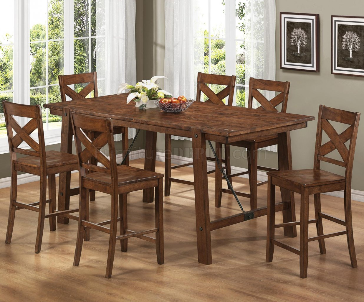 104188 Lawson Counter Height Dining Table By Coaster WOptions