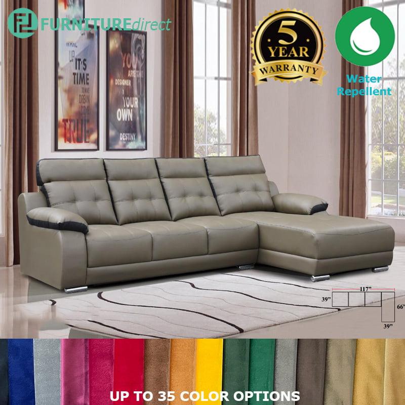 custom made ro013 elle 4 seater l shaped sofa casa leather