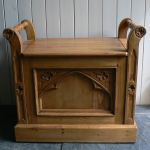 Reclaimed Pine Gothic Stool Quality Oak Furniture From The Furniture Directory