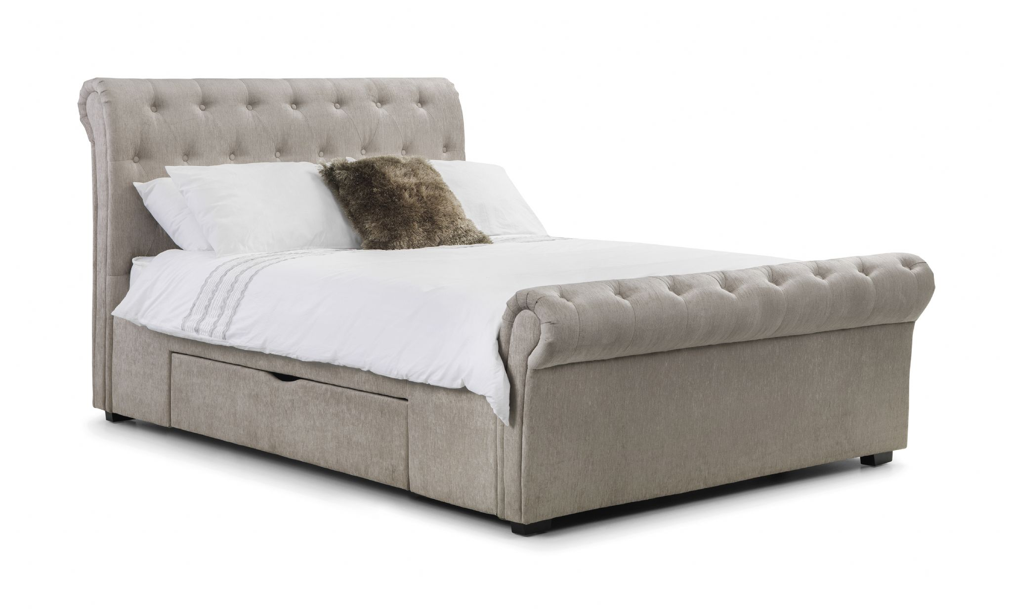 Brindisi Soft Touch Mink Chenille Storage King Size Bed