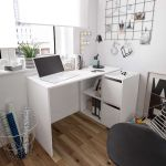 Carla Small L Shaped Corner Computer Desk White Furniture Factor Uk