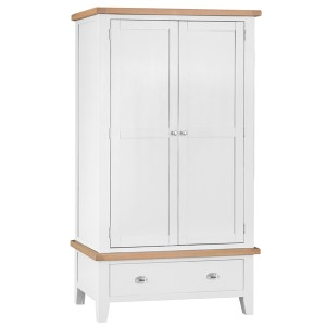 New England 2 Door Robe With Drawer 1