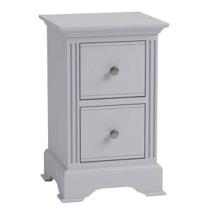 Bruge 2 drawer Bedside - Grey
