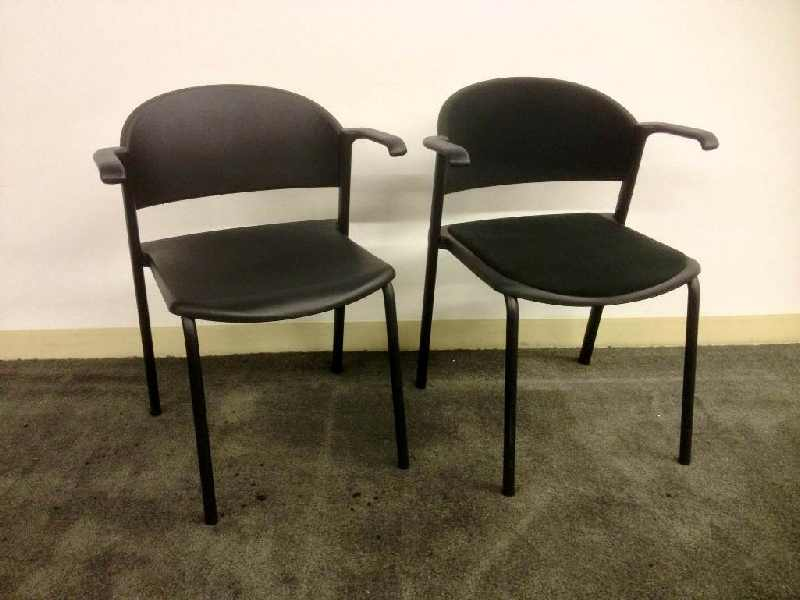 Used Office Chairs Teknion Zone Stacking Chair At