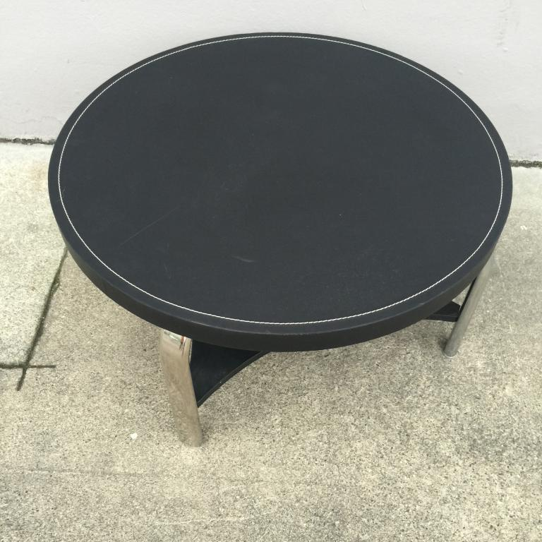 Used Office Conference Tables 31 X16 Martin Battrude Black Leather Table At Furniture Finders