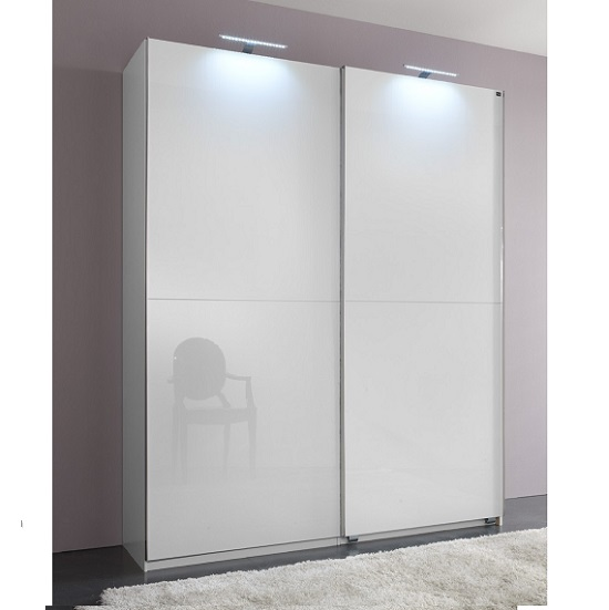 Add On D White Gloss Wardrobe With 2 Sliding Doors 1