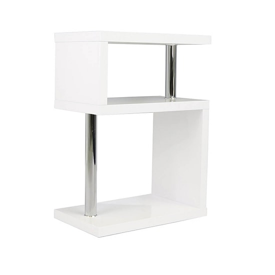 Albania 3 Tier Shelving Unit White High Gloss Furniture In Fashion