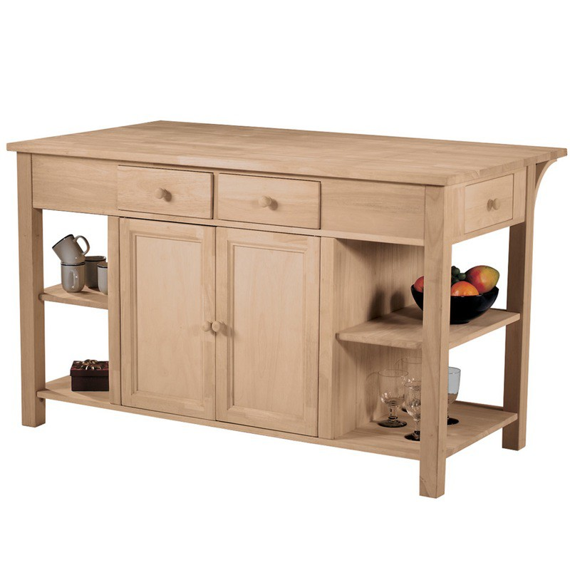 Super Kitchen Island With Breakfast Bar Is A Solid Wood Storage Solution