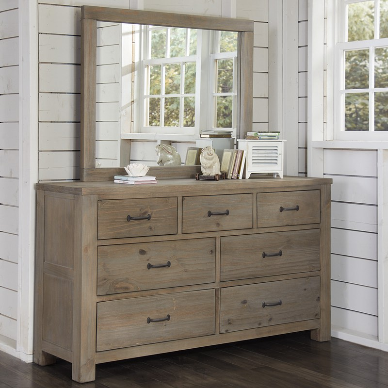 Highlands 7 Drawer Dresser And Mirror Free Shipping