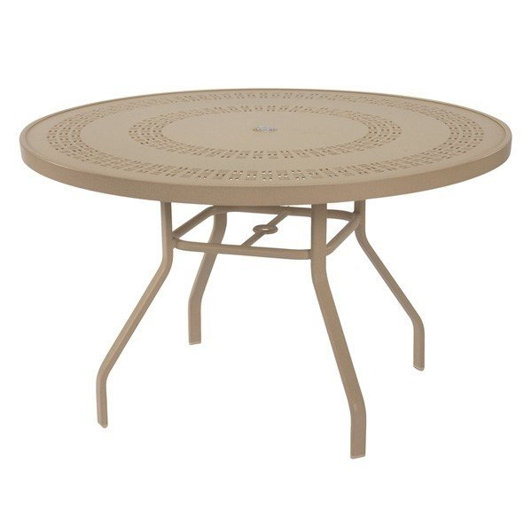 42 round punched aluminum patio dining table with commercial aluminum frame furniture leisure
