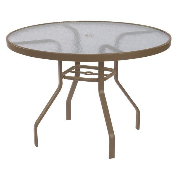48 round acrylic patio dining table with commercial aluminum frame furniture leisure