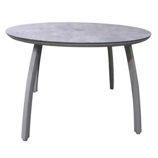 sunset round aluminum patio dining table 42 or 48 furniture leisure