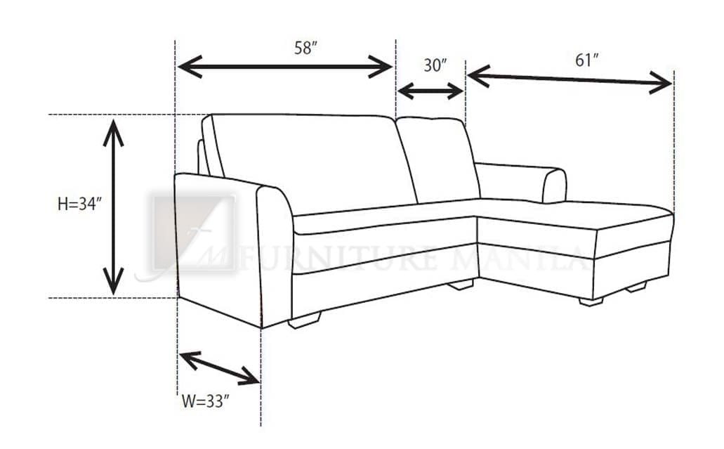L Shaped Sofa Standard Size Okaycreations Net
