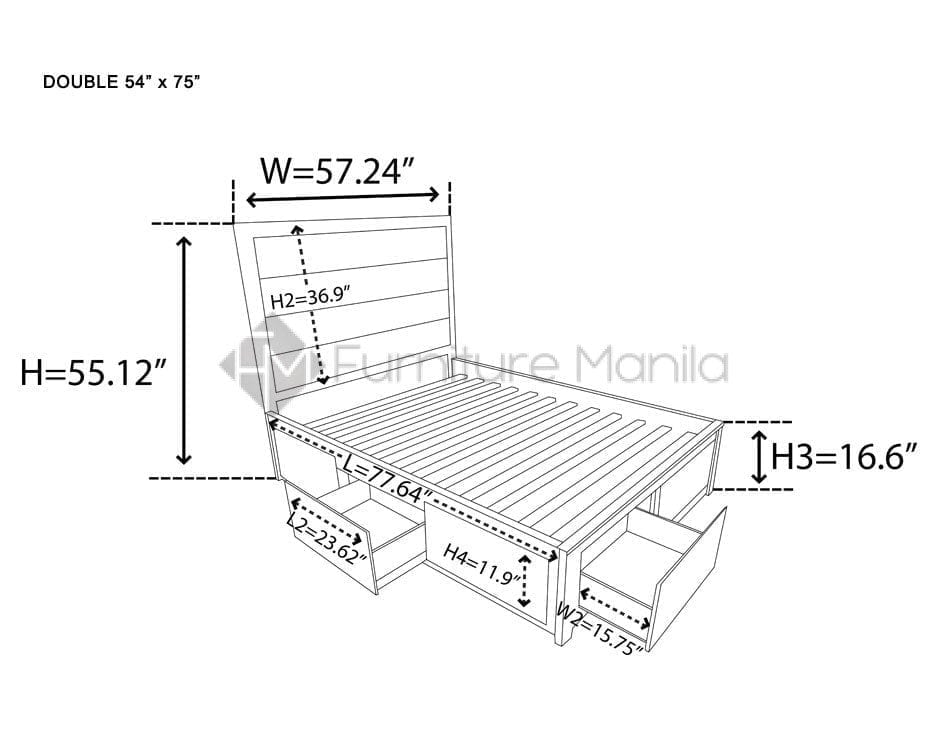 Queen Bed Dimensions Inches