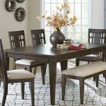 Homelegance Makah Dark Brown Rectangular Dining Table Dallas Tx Dining Room Dining Tables Furniture Nation