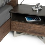 Vig Wharton Dark Aged Oak Nightstand Dallas Tx Bedroom Night Stand Furniture Nation
