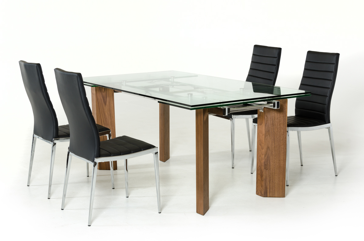 Vig Helena Extendable Glass Dining Table Dallas Tx Dining Room Dining Tables Furniture Nation