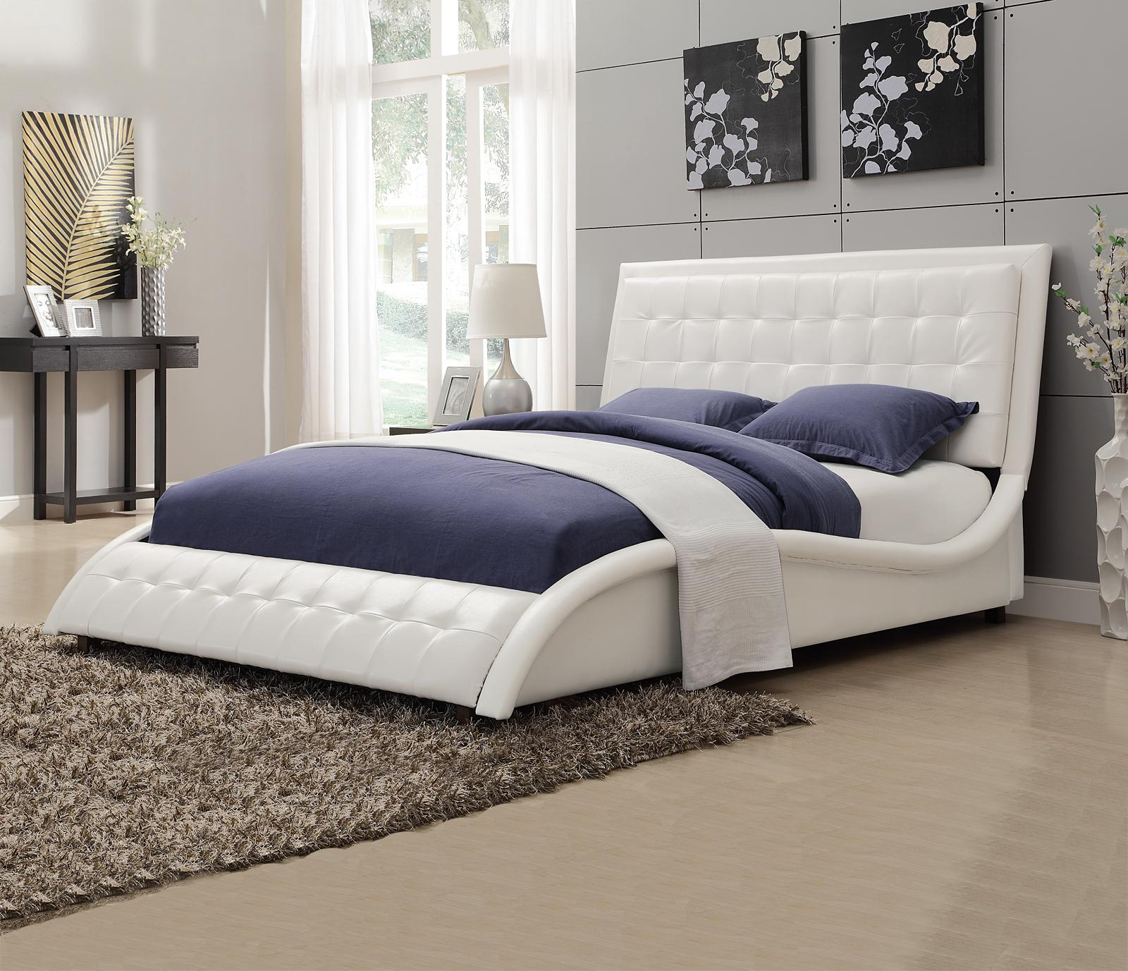 coaster tully white queen bed