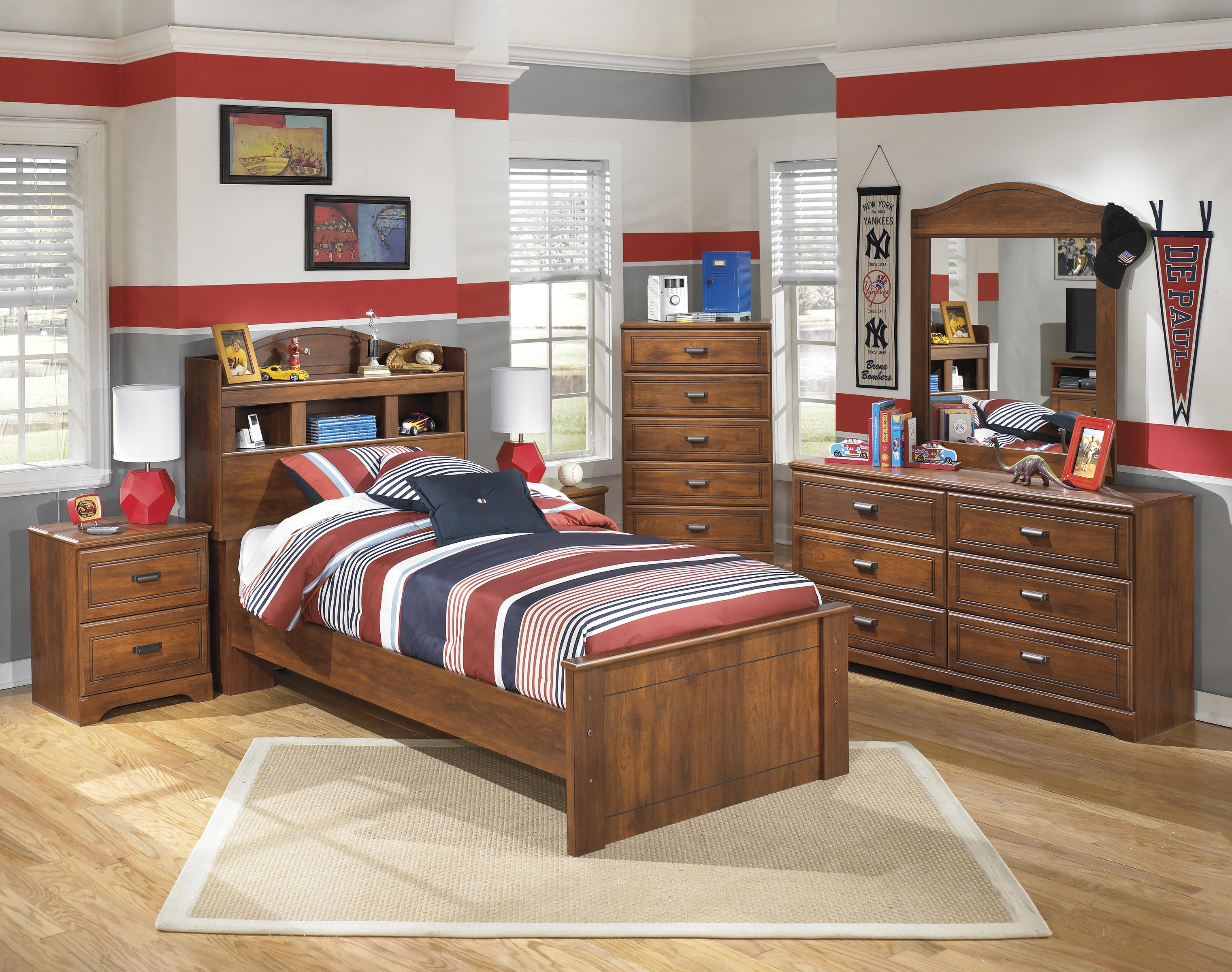ashley barchan 5pc twin bookcase headboard panel bedroom group