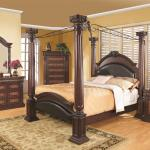 Coaster Grand Prado Cal King 5pc Canopy Bedroom Group Dallas Tx Bedroom Group Furniture Nation