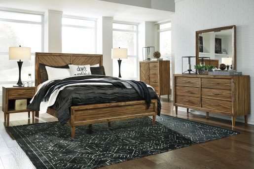 Ashley Broshtan 5pc Queen Panel Bedroom Group Dallas TX