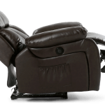 Salisbury Leather Electric Recliner Chair With Massage And Heat In Brown