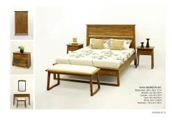 Avani Bedroom Set Wooden Furniture For Hotel, Indoor wooden furniture for hospitality projects, bedroom wooden furniture