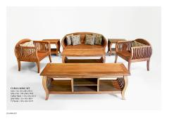 Curva Living Set Wooden Furniture Exporter