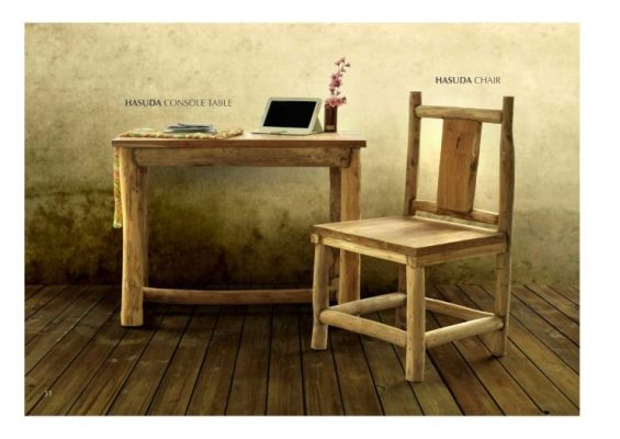 Hasuda Table And Hasuda Chair Teak Branch Furniture