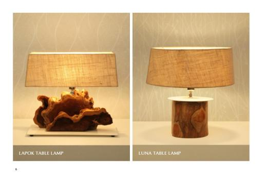 Lapok And Luna Table Lamp For Interior Home Decor And Interior Lighting Projects