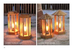 Laterne Outdoor Lamp Wholesale, Wooden lamp for outdoor exterior