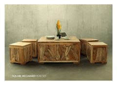 Square Reclaimed Teak Set Wholesale