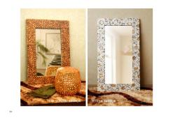 Teak Square Mirror And Tetrya Mirror