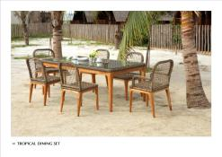 Tropical Dining Set From Tropical Furniture Exporter wholesale