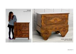 Yvonne Chest And Wheel Carving Trunk Wooden Furniture Exporter