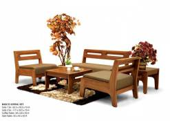 Basco Furniture Living Wooden Set