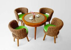 Leiva Dining rattan furniture Set, Indonesia rattan furniture