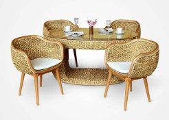 Naria rattan Dining Set, Indonesia rattan furniture