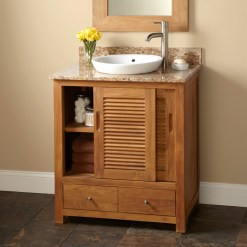 Teak Bathroom Furniture With Vanity Semi Open